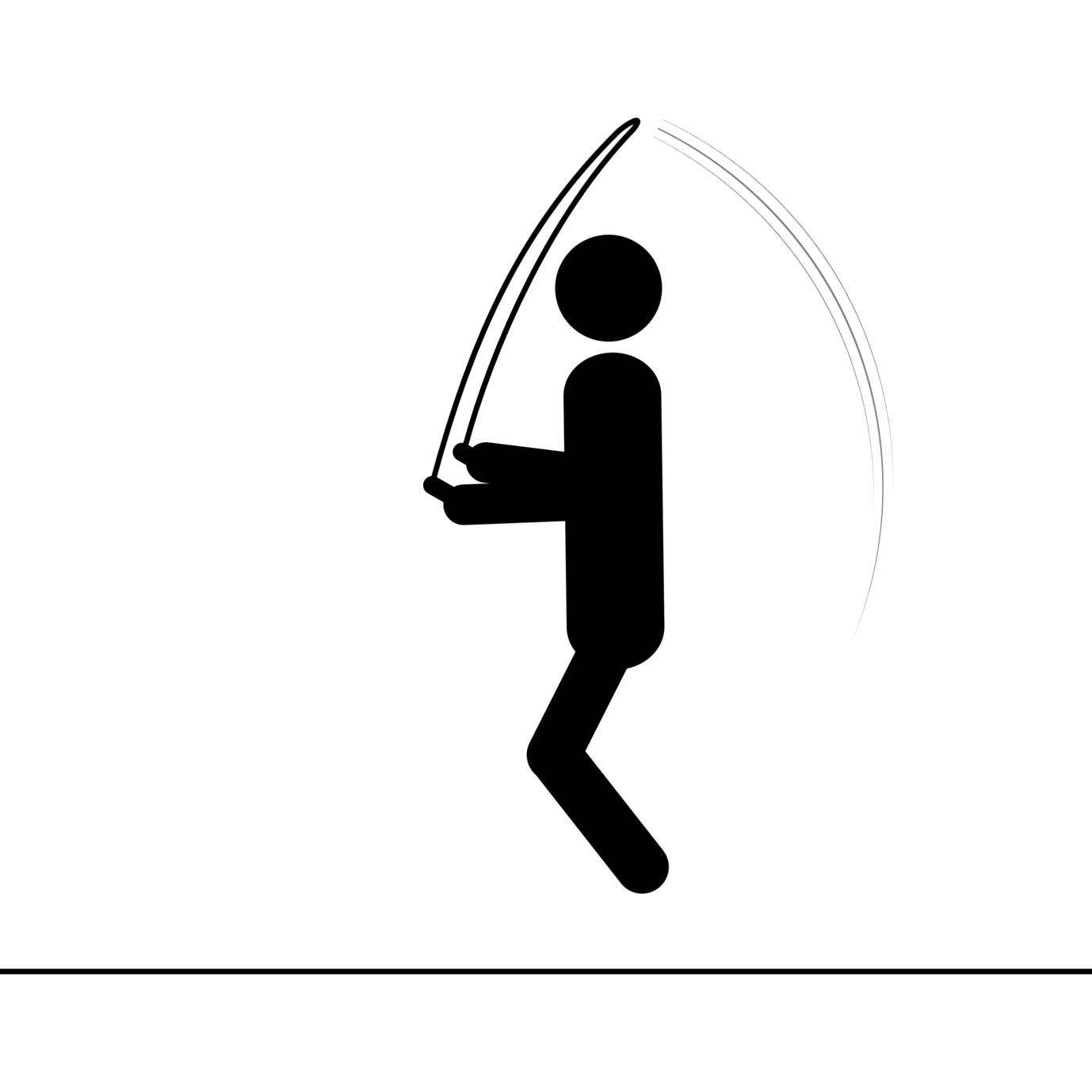 Silhouette corde à sauter - Sautiller.com